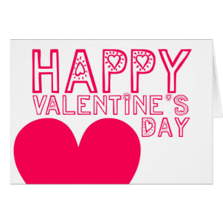 Happy Valentine's Day Cute Modern greeting Card
