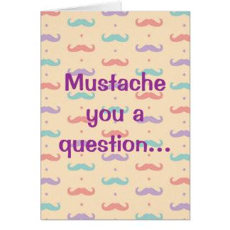 Happy Valentine's Day Cute Mustache Moustache Card