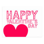 Happy Valentine's day Cute typography Postcard