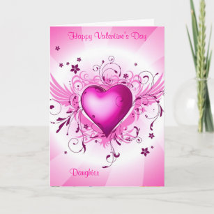 Valentine for daughter cards zazzle uk happy valentines day daughter holiday card m4hsunfo