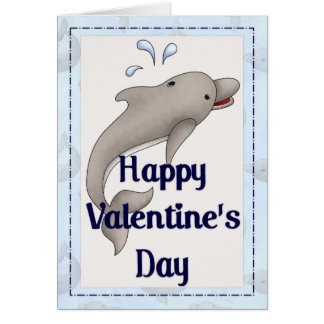 Happy Valentine's Day Dolphin Greeting Card d3