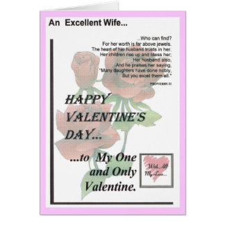 Happy Valentine's Day Excellent Wife Card