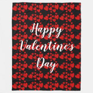 Happy Valentine's Day Fleece Blanket
