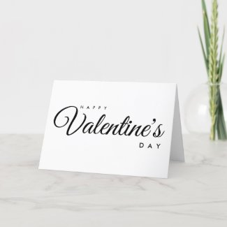 Happy Valentine's Day Folded Holiday Card
