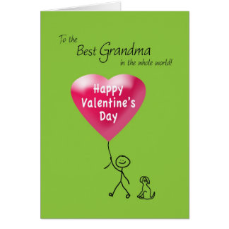 Happy Valentine's Day for Grandma Greeting Card