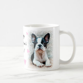 Happy Valentine's Day French Bulldog puppy mug