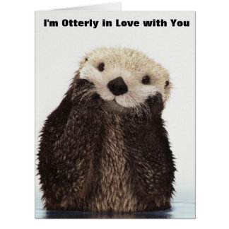 Happy Valentines Day Funny Otter Big Greeting Card