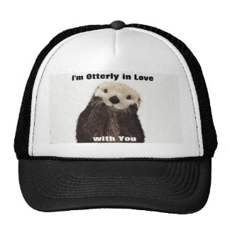 Happy Valentines Day Funny Otter Cap