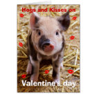 Happy Valentines Day Funny Piglet Card