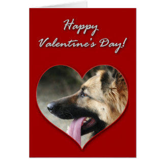 Happy Valentine's Day German Shepherd Card