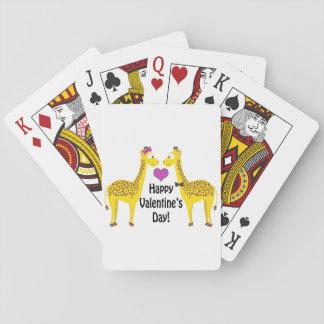 Happy Valentine's Day Giraffes Poker Deck