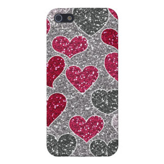 Happy Valentine's Day Glitter Love Bling Hearts iPhone 5 Case