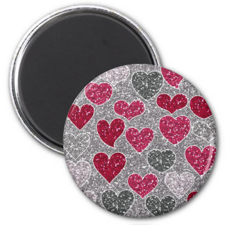 Happy Valentine's Day Glitter Love Bling Hearts Magnets