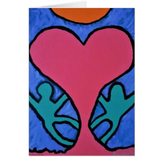 """HAPPY VALENTINES DAY Greeting Card """"OUR LOVE"""""""