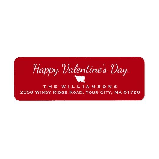Happy Valentine's Day Heart and Arrow Personalised