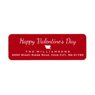 Happy Valentine's Day Heart and Arrow Personalized Return Address Label