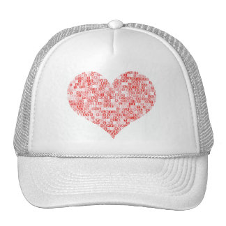Happy Valentine's Day Heart Trucker Hat