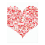 Happy Valentine's Day Heart Post Cards