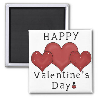 Happy Valentine's Day Hearts D7 - Frig Magnet