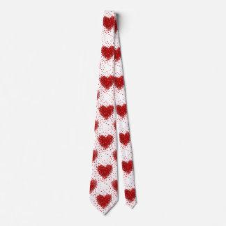 happy valentines day hearts mens necktie neck tie