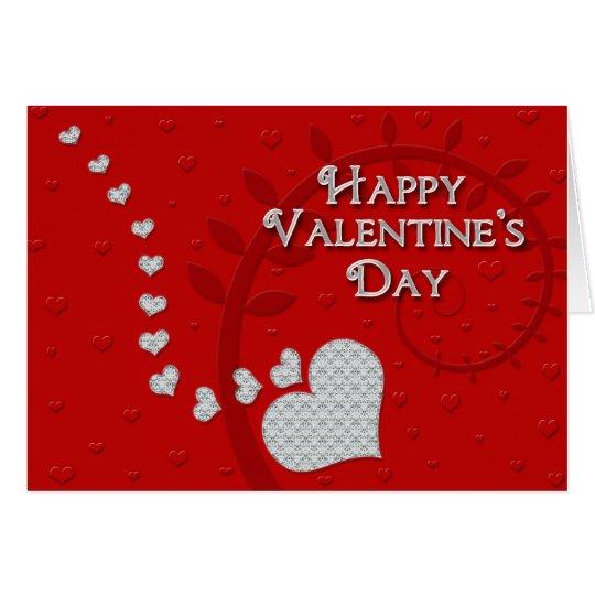 Happy Valentine's Day - Jewel Hearts Card