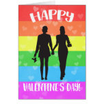 Happy Valentine's Day LGBT Pride Greeting Card