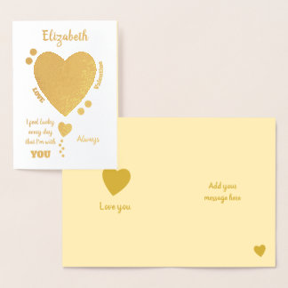 Happy Valentine's Day love always Foil Card