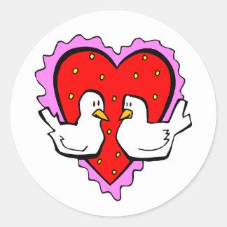 Happy Valentines Day Love Birds Sweetheart Couple Sticker