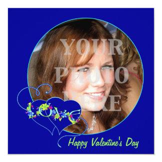 """Happy Valentine's Day Love Photo Card Invitation 5.25"""" Square Invitation Card"""