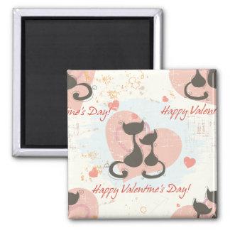 Happy Valentine's Day Square Magnet
