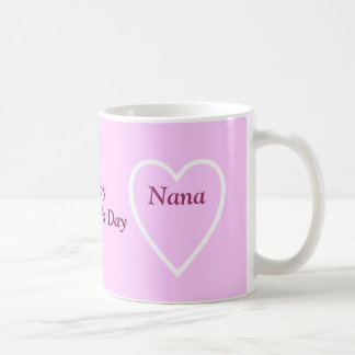 Happy Valentine's Day Nana - I Love You Basic White Mug