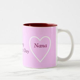 Happy Valentine's Day Nana - I Love You Two-Tone Mug