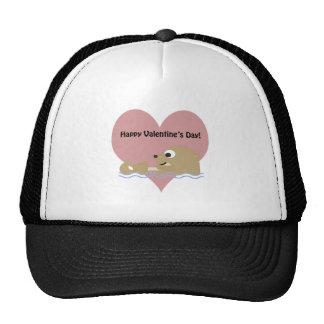Happy Valentines Day Otter Cap