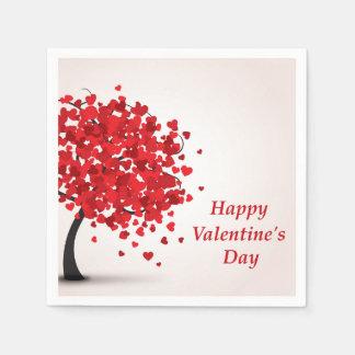 Happy Valentine's Day Paper Napkins Disposable Serviette