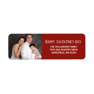Happy Valentine's Day Photo Return Address Labels