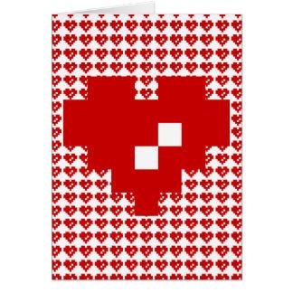 Happy Valentine's Day / Pixel Heart 8 Bit Love Card