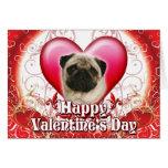 Happy Valentines Day Pug
