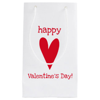 Happy Valentine's Day! Red Heart Small Gift Bag