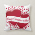 Happy Valentine's Day! Red Hearts Cushion