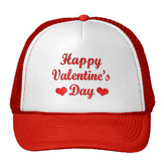 Happy Valentine's Day Red Hearts Trucker Hat