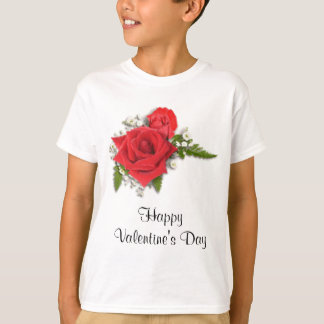 Happy Valentines Day Romantic Red Roses T-Shirt