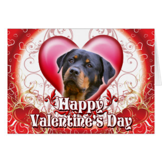 Happy Valentines Day Rottweiler Card