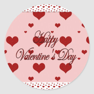 Happy Valentines Day Round Sticker