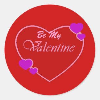 Happy Valentine's Day Round Sticker