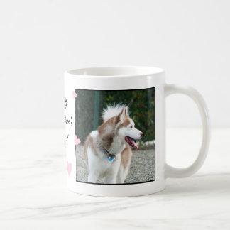Happy Valentine's Day Siberian Husky  mug