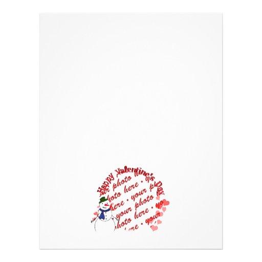 Happy Valentine's Day Snowy Sweetheart Boy Custom Flyer