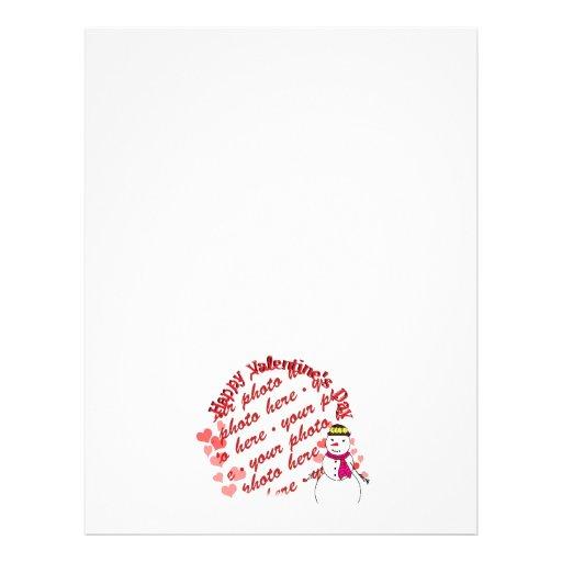 Happy Valentine's Day Snowy Sweetheart Girl Flyer