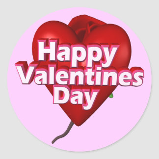 Happy Valentine's Day T-shirts and Gifts Classic Round Sticker