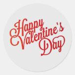 Happy Valentine's Day Text Round Sticker