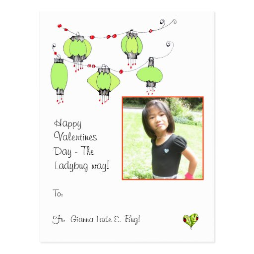 Happy Valentines Day the Ladybug way Post Card